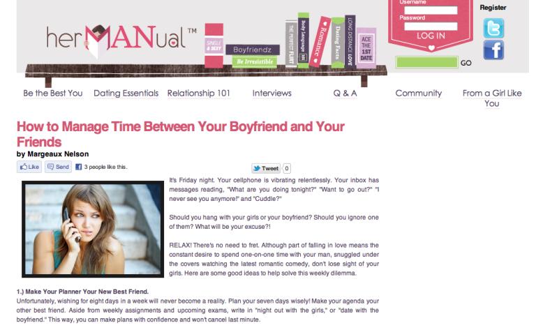 hermanual.com, womens reporter, content writer