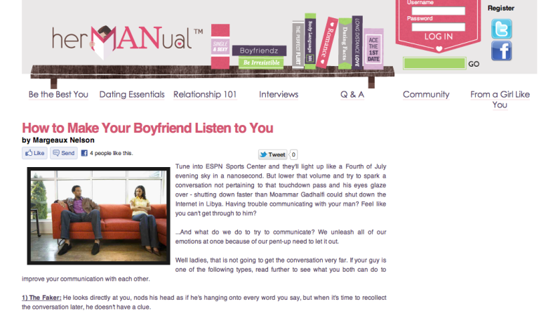 hermanual.com, girls advice, advice for women, content writer